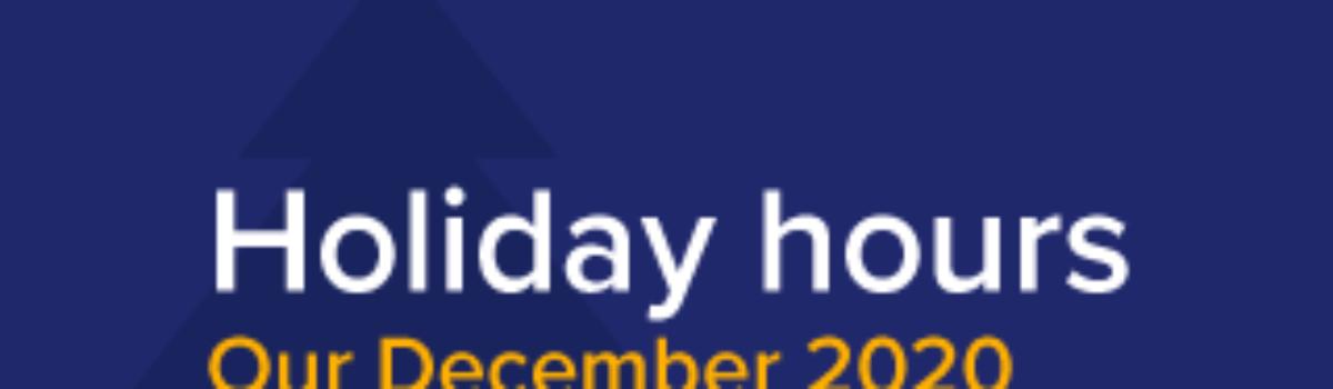 December Office Hours 2020